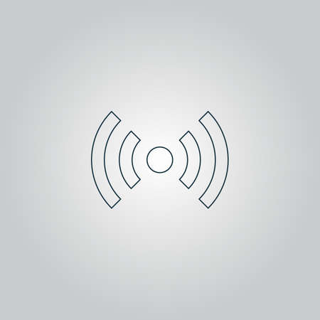 wimax: Flat Wifi. Web icon, sign or button isolated on grey background. Collection modern trend concept design style vector illustration symbol Illustration