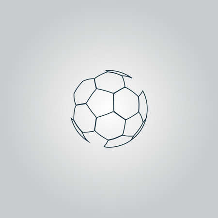 Football ball - soccer. Flat web icon, sign or button isolated on grey background. Collection modern trend concept design style vector illustration symbol
