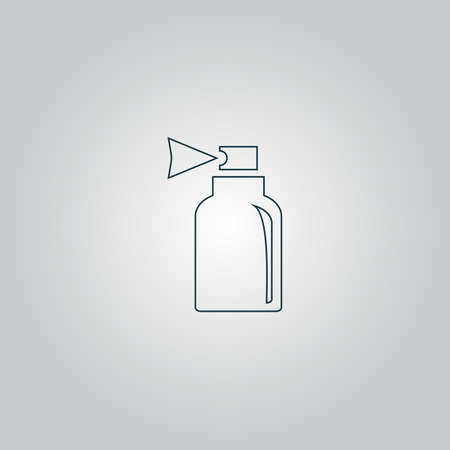 odors: Spray. Flat web icon or sign isolated on grey background. Collection modern trend concept design style vector illustration symbol