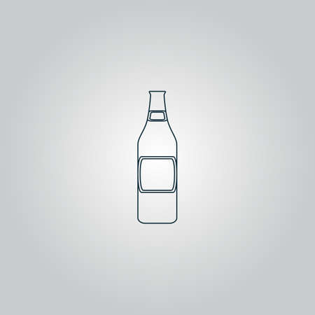 beer bottle . Flat web icon or sign isolated on grey background. Collection modern trend concept design style vector illustration symbol Vector