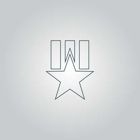 Order with star. Flat web icon or sign isolated on grey background. Collection modern trend concept design style vector illustration symbol