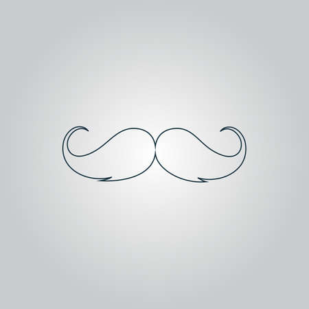hair mask: Mustache . Flat web icon or sign isolated on grey background. Collection modern trend concept design style vector illustration symbol Illustration