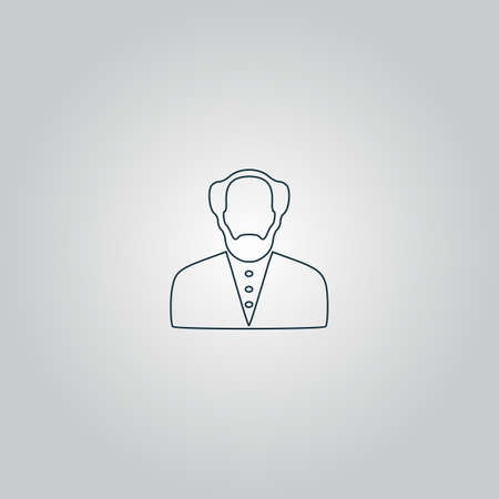 savant: Scientist. Flat web icon or sign isolated on grey background. Collection modern trend concept design style vector illustration symbol