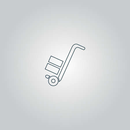 work crate: manual loader. Flat web icon or sign isolated on grey background. Collection modern trend concept design style vector illustration symbol