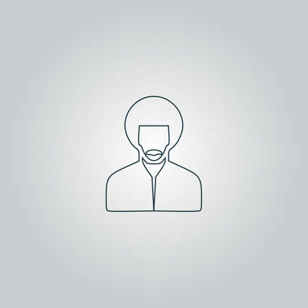 rastafarian man. Flat web icon or sign isolated on grey background. Collection modern trend concept design style vector illustration symbol Vector