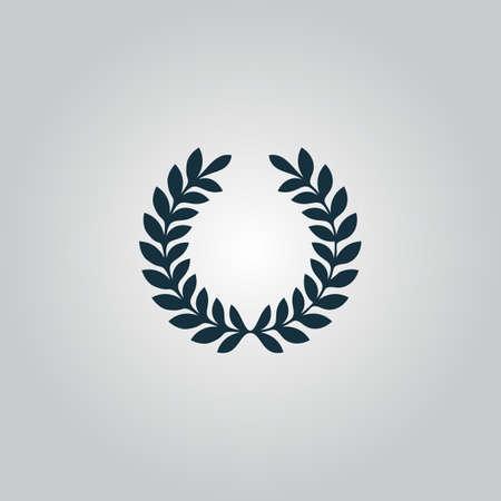 Laurel overwinning krans. Flat web pictogram of teken geïsoleerd op een grijze achtergrond. Verzameling moderne trend conceptontwerp stijl vector illustratie symbool Stockfoto - 42478911