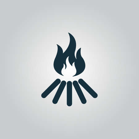 Bonfire vector. Flat web icon or sign isolated on grey background. Collection modern trend concept design style vector illustration symbol Ilustração