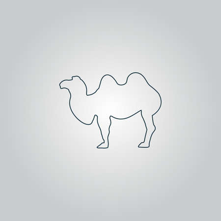 Camel. Flat web icon, sign or button isolated on grey background. Collection modern trend concept design style vector illustration symbol