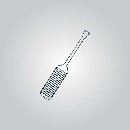phillips: Screwdriver. Flat web icon, sign or button isolated on grey background. Collection modern trend concept design style vector illustration symbol Illustration