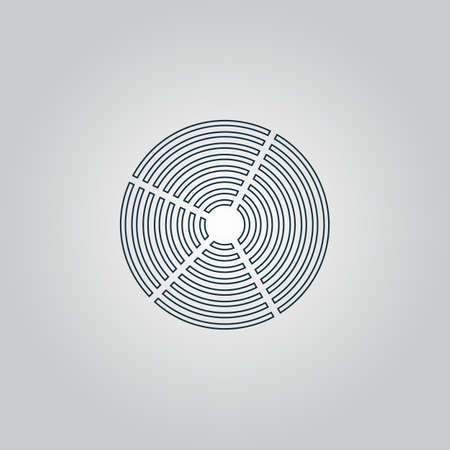 crop circle: Crop Circle. Flat web icon, sign or button isolated on grey background. Collection modern trend concept design style vector illustration symbol