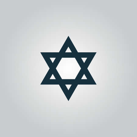 chanuka: Star of David. Flat web icon or sign isolated on grey background. Collection modern trend concept design style vector illustration symbol
