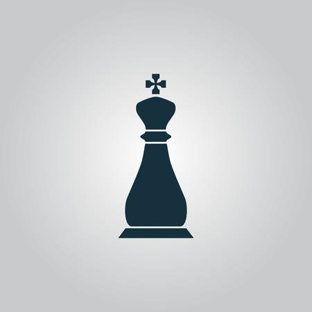 loss leader: Chess king. Flat web icon or sign isolated on grey background. Collection modern trend concept design style vector illustration symbol
