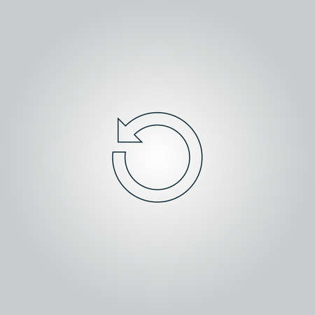 newest: circular arrow. Flat web icon or sign isolated on grey background.