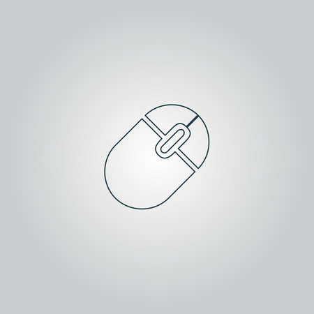 lit collection: Computer mouse. Flat web icon or sign isolated on grey background.