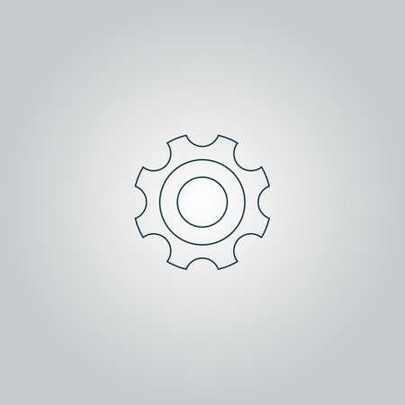 bearing: Bearing. Flat web icon or sign isolated on grey background.