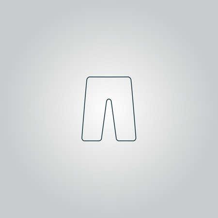 Capri. Flat web icon or sign isolated on grey background.   Ilustração