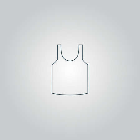 Shirt. Flat web icon or sign isolated on grey background.