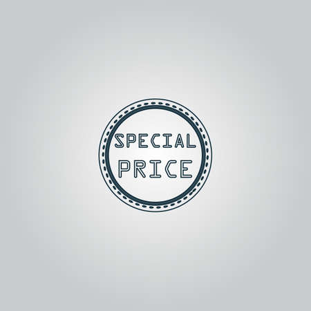 price uncertainty: Special Badge, Label or Sticker. Flat web icon or sign isolated on grey background.   Illustration