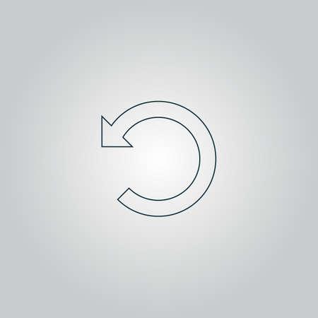 flexure: Rotation Arrow. Flat web icon or sign isolated on grey background.   Illustration