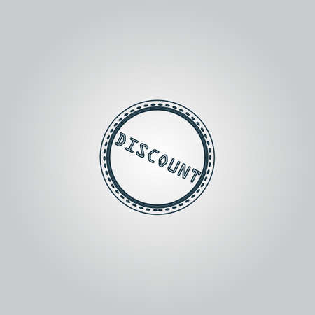 price uncertainty: Discount Badge Label or Sticker. Flat web icon or sign isolated on grey background.  Illustration