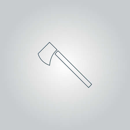 tomahawk: Tomahawk. Flat web icon or sign isolated on grey background.