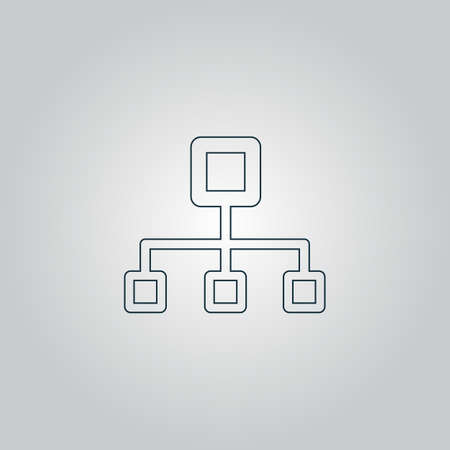 dataset: Network block diagram. Flat web icon or sign isolated on grey background. Collection modern trend concept design style vector illustration symbol