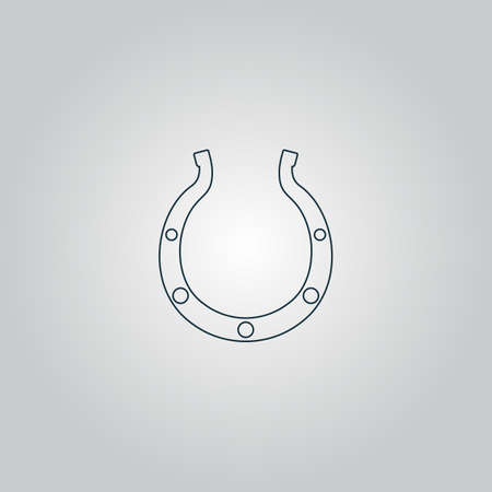goodluck: Luck Horseshoe. Flat web icon or sign isolated on grey background. Collection modern trend concept design style vector illustration symbol