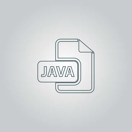 java: JAVA development file format. Flat web icon or sign isolated on grey background. Collection modern trend concept design style vector illustration symbol