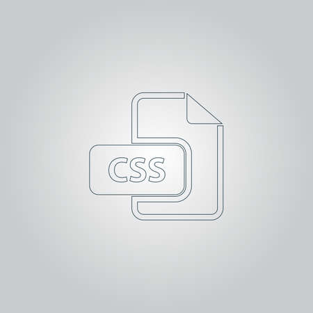 css: Css file extension. Flat web icon or sign isolated on grey background Illustration