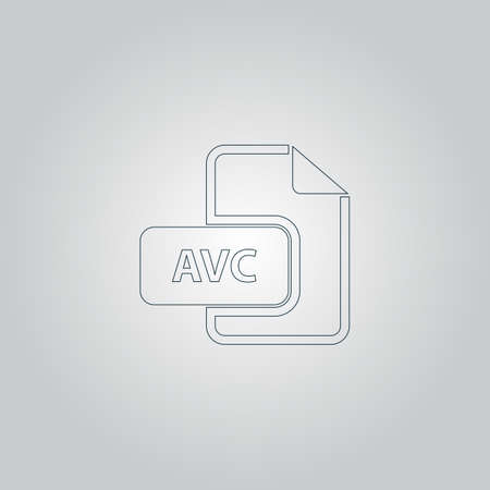 mov: AVC file. Flat web icon or sign isolated on grey background Illustration