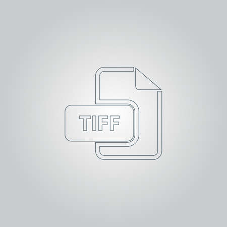 tiff: TIFF image file extension. Flat web icon or sign isolated on grey background