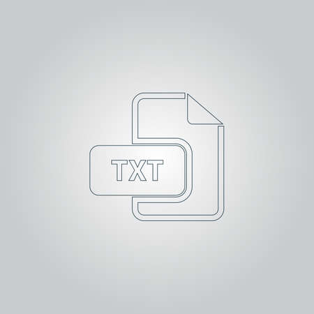 txt: TXT text file extension. Flat web icon or sign isolated on grey background