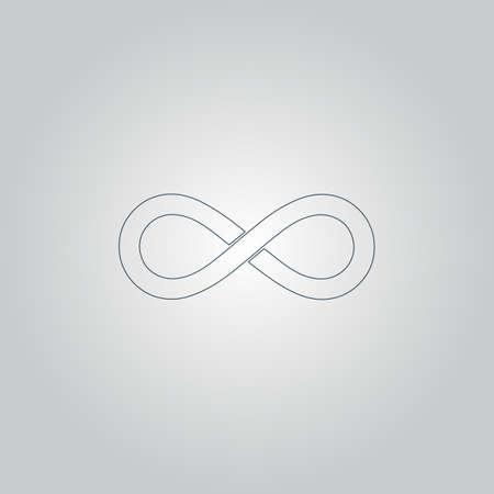 Infinity. Flat web icon or sign isolated on grey background Illusztráció