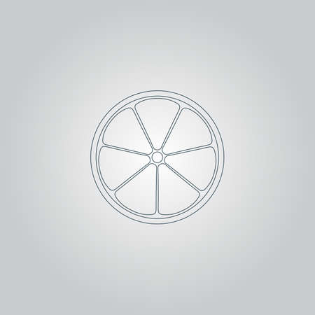vitamine: Half of lemon. Flat web icon or sign isolated on grey background. Collection modern trend concept design style vector illustration symbol Illustration