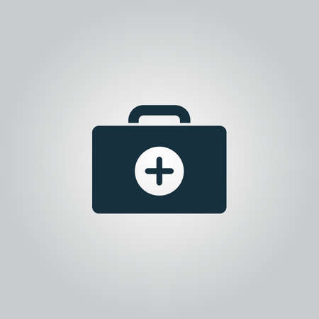 medical box: Medical box. Flat web icon or sign isolated on grey background. Collection modern trend concept design style vector illustration symbol