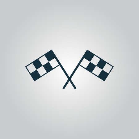 competencia: Competir con el indicador. Icono del Web plano o signo aislado sobre fondo gris. Colección tendencia concepto de estilo moderno diseño ilustración vectorial símbolo