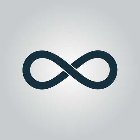 mobius loop: Infinity. Flat web icon or sign isolated on grey background. Collection modern trend concept design style vector illustration symbol