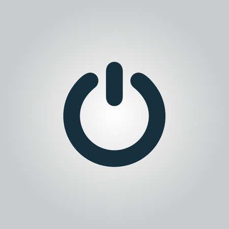 kippschalter: Power. Flache Web-Symbol oder Zeichen auf grauem Hintergrund isoliert. Sammlung Moderne Konzept Design-Stil Vektor-Illustration Symbol