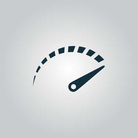 mileage: Performance measurement. Flat web icon or sign isolated on grey background. Collection modern trend concept design style vector illustration symbol