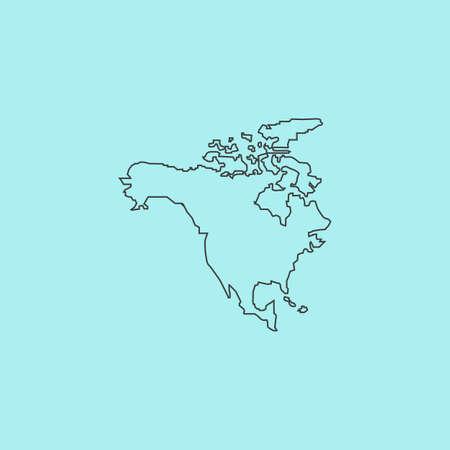 bandera de panama: Am�rica del Norte Mapa. Esquema simple icono vector plana aislado en fondo azul