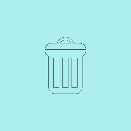 scrapyard: Urn. Simple outline flat vector icon isolated on blue background
