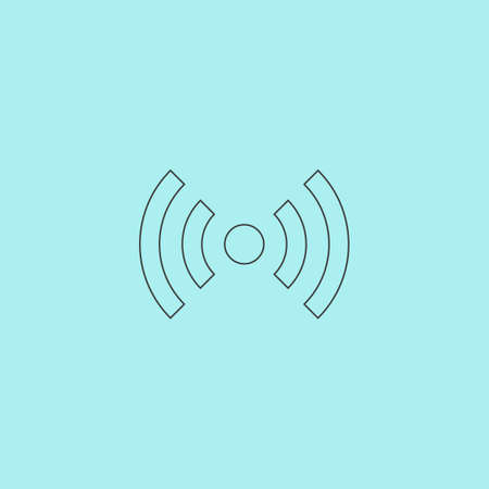 wimax: Flat Wi-Fi. Web icon, sign or button isolated on grey background. Collection modern trend concept design style vector illustration symbol