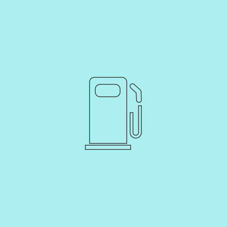 clean energy: Fuel. Simple outline flat vector icon isolated on blue background Illustration