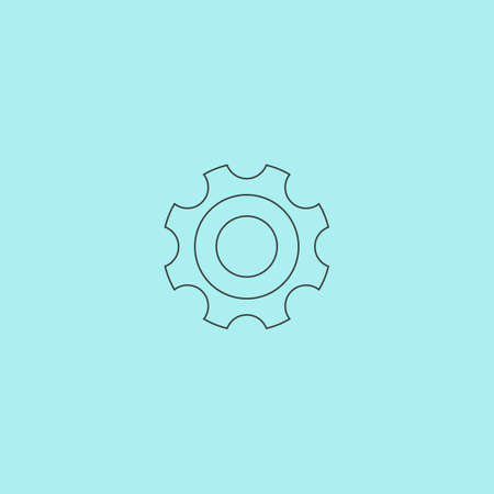bearing: Bearing. Simple outline flat vector icon isolated on blue background