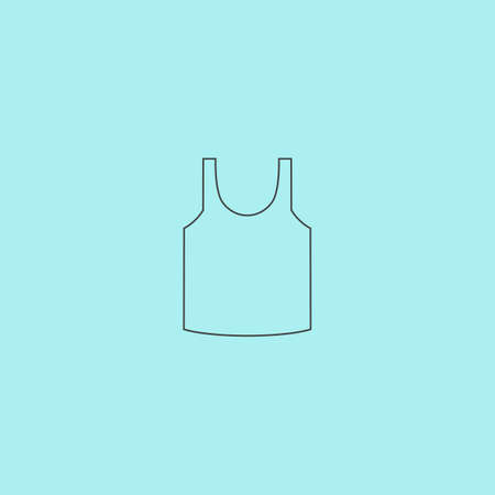sear: Shirt. Simple outline flat vector icon isolated on blue background