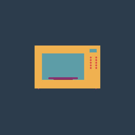 microwave oven: Microwave oven. Colorful vector icon. Simple retro color modern illustration pictogram.