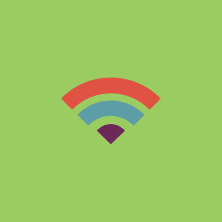 logger: Simple RSS. Colorful vector icon. Simple retro color modern illustration pictogram.  Illustration