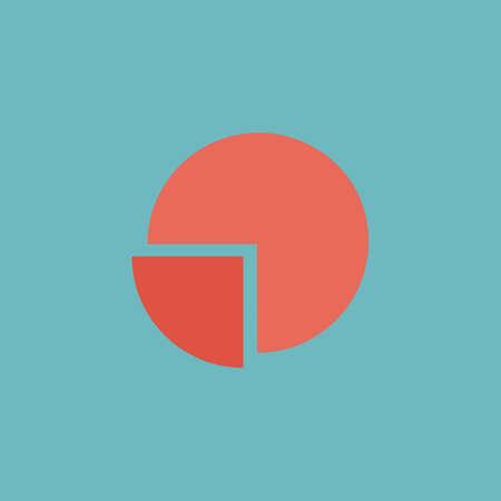 Cirkeldiagram. Kleurrijke vector icon. Eenvoudige retro kleur moderne illustratie pictogram.