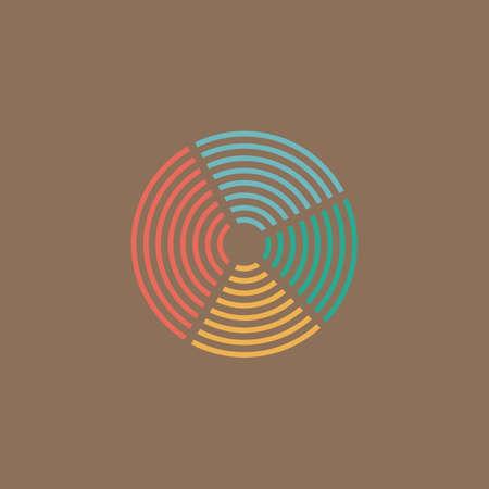 unexplained: Crop Circle. Colorful vector icon. Simple retro color modern illustration pictogram.