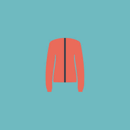 coatee: Jacket. Colorful vector icon. Simple retro color modern illustration pictogram.